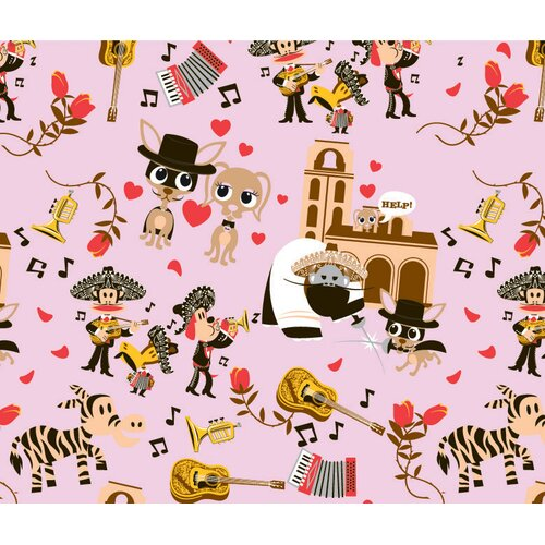 26 Bars & A Band Paul Frank Wedding Bells Dog Pillow