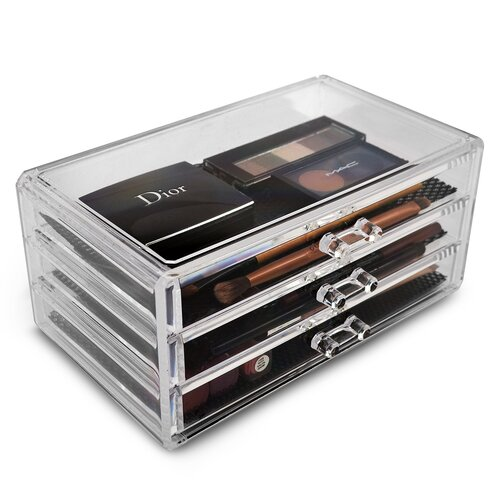 ... International Acrylic 4 Drawer Makeup Organizer with Removable Drawers