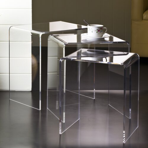 Fox Hill Trading Pure Décor 3 Piece Nesting Tables