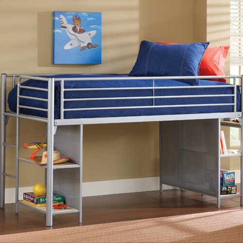 universal youth twin low loft bed with desk wayfair. Black Bedroom Furniture Sets. Home Design Ideas
