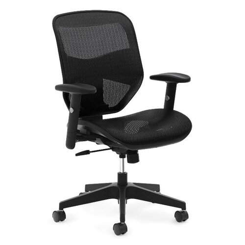 Boss Office Products High Back Mesh Task Chair With Adjustable Arms Rev