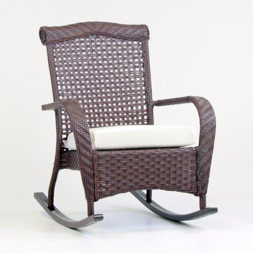 Home Loft Concepts Aegean Acacia Rocking Chair with Cushion & Reviews ...