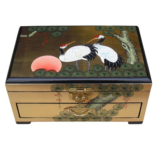 Grand international decor gold leaf jewellery box for International decor uk