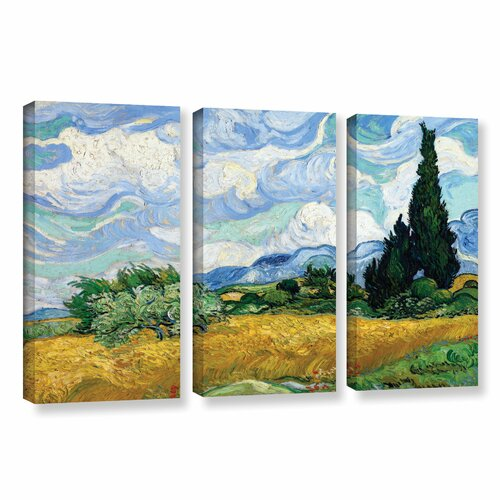 tile floor and decor wheatfield with cypresses by vincent gogh 3 22296