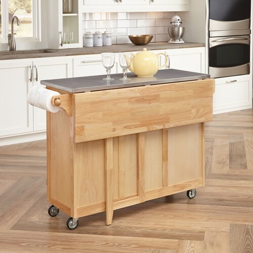 One Allium Way Kitchen Island With Stainless Steel Top Reviews Wayfair