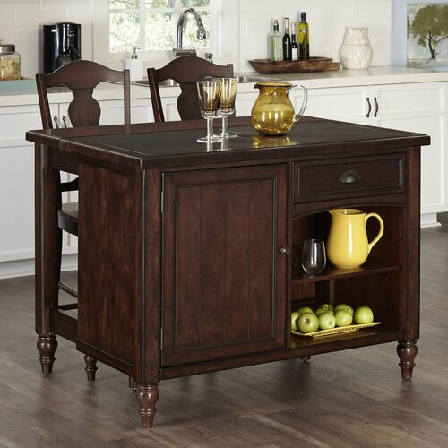 Kitchen Islands With Stools: Country Comfort 3 Piece Kitchen Island Set