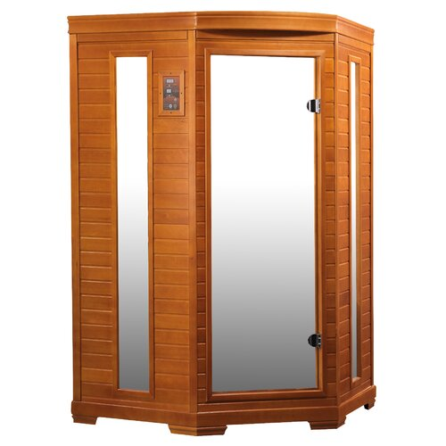 Dynamic Infrared 2 Person Corner Carbon FAR Infrared Sauna & Reviews ...