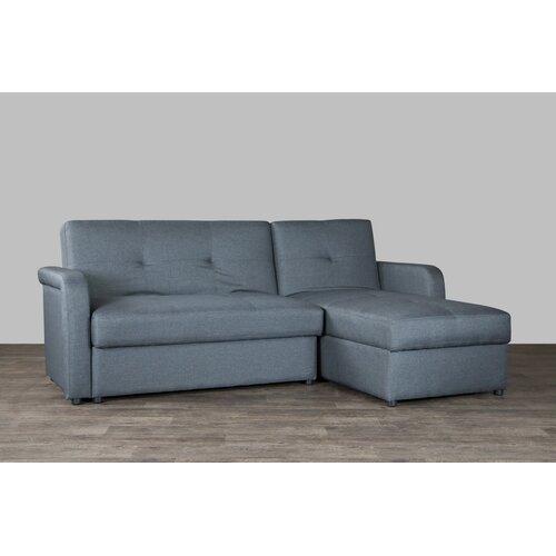 Baxton studio sectional wayfair for Gray sectional sofa wayfair