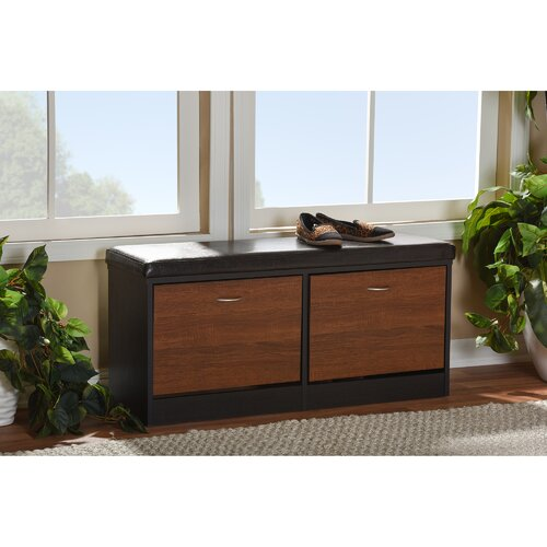 Modern Entryway Bench: Wholesale Interiors Foley Wood Storage Entryway Bench