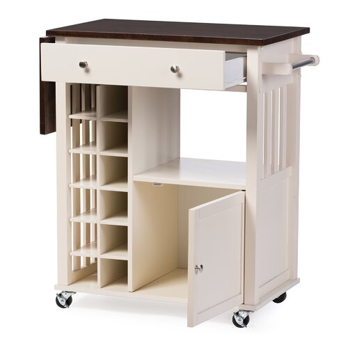 Solid Wood Kitchen: Wholesale Interiors Justin Solid Wood Kitchen Cart With