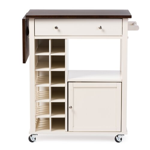 wholesale interiors justin solid wood kitchen cart with dark oak drop leaf top and built in wine. Black Bedroom Furniture Sets. Home Design Ideas