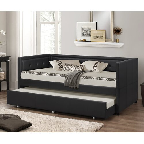 wholesale interiors baxton studio daybed with trundle reviews wayfair. Black Bedroom Furniture Sets. Home Design Ideas