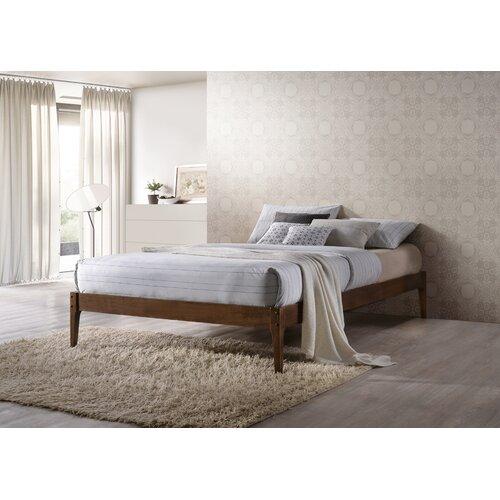 Modern Wood Bed Frames: Wholesale Interiors Baxton Studio Platform Bed & Reviews
