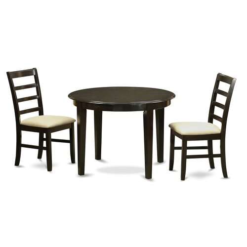 Boston 3 piece dining set wayfair for Two seat kitchen table