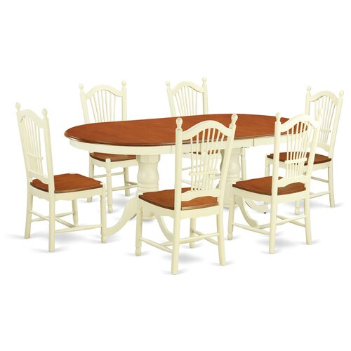 Plainville 7 piece dining set wayfair for Kitchen table set 7 piece