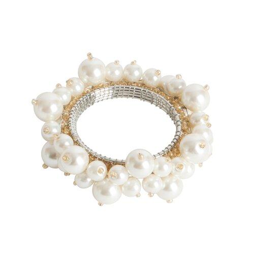 Saro Faux Pearl Napkin Ring (Set of 4)