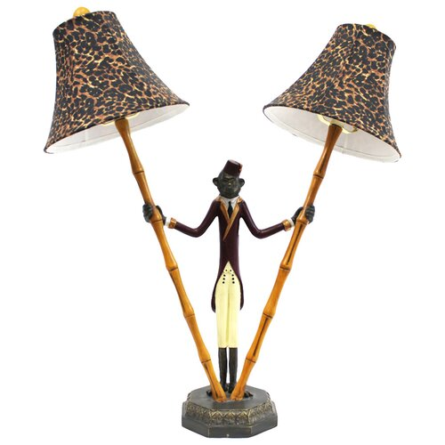 """Selectives Bellhop Monkey 25"""" H Table Lamp with Bell Shade ..."""