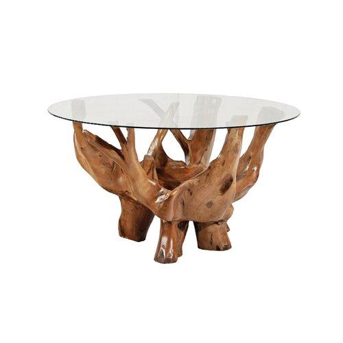 round teak indoor coffee table 2