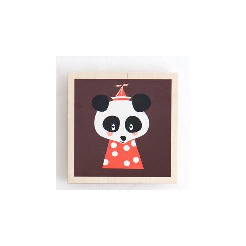 ferm living kids posey panda marionette by darling clementine graphic art wayfair. Black Bedroom Furniture Sets. Home Design Ideas