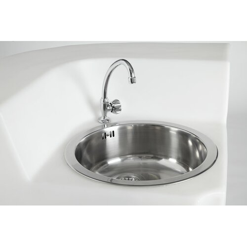Single Jumbo Corner Sink with Tap and Drain by Slide Design