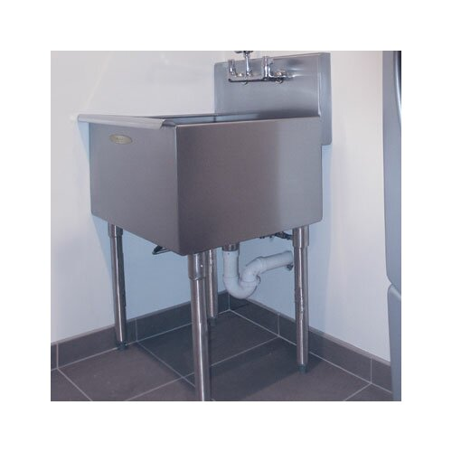 Utility Sink Stainless Steel Freestanding : Free Standing Stainless Steel Sink Wayfair