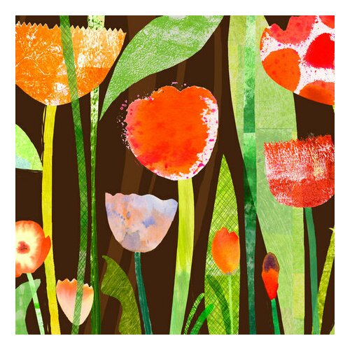 Gardens By Maria: Tulip Garden By Maria Carluccio Painting Print On Wrapped