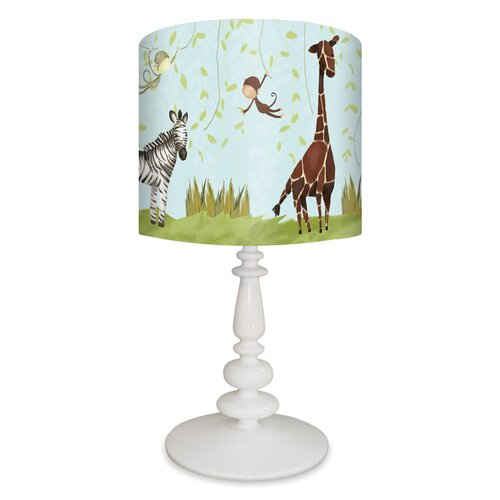 Jungle Fun 21 H Table Lamp With Drum Shade Wayfair