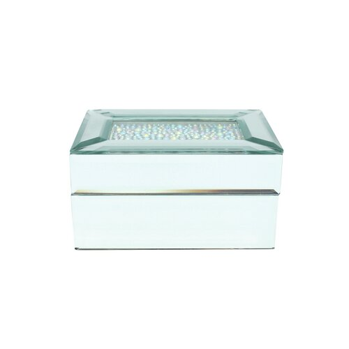 Crystal Top Mirrored Jewelry Box by Danielle Creations