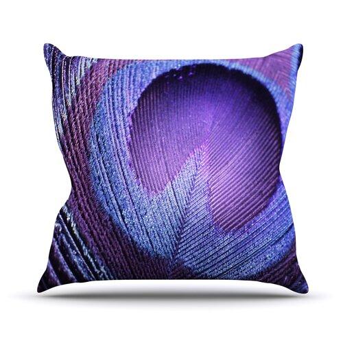 Purple Peacock Throw Pillow Wayfair