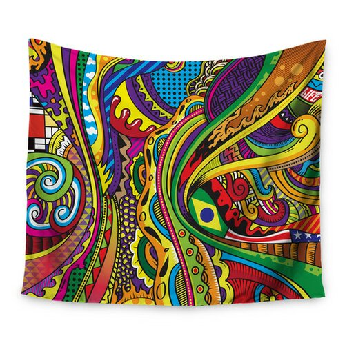 Doodle by Roberlan Wall Tapestry