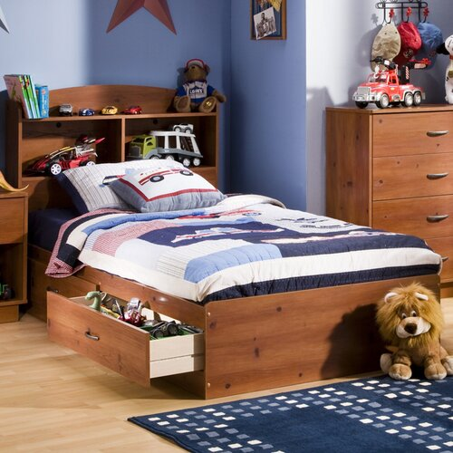 South Shore Logik 4 Piece Pure White Twin Kids Bedroom Set: South Shore Logik Twin Mates Storage Bed Box & Reviews