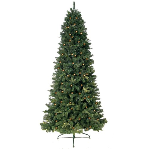 Next Slim Christmas Tree: 7' Green Eastwood Fir Slim Artificial Christmas Tree With