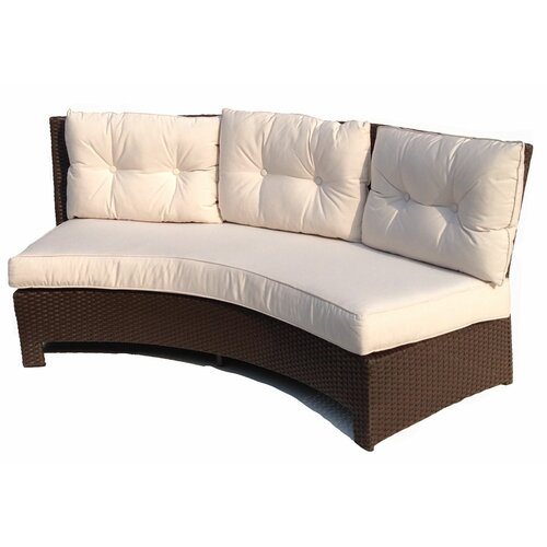 ElanaMar Designs Sonoma Curved 3 Seat Sofa With Cushion