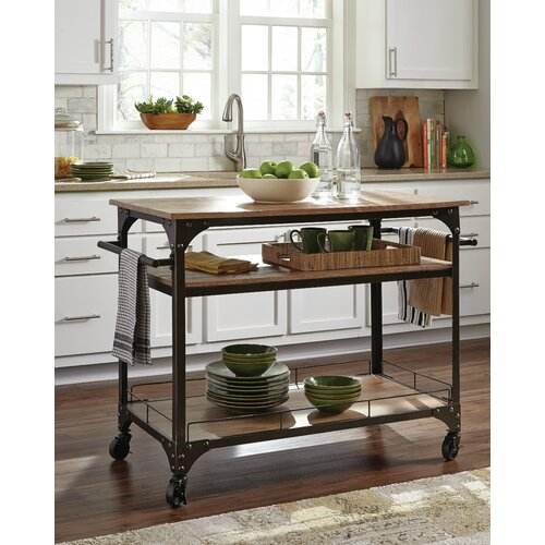 Kitchen Wood Top: Kitchen Cart With Wood Top
