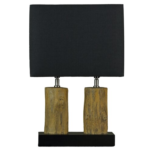 twin h table lamp with rectangular shade reviews wayfair. Black Bedroom Furniture Sets. Home Design Ideas