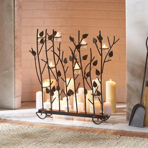 Birch Lane Votive Candle Fireplace Screen Reviews Wayfair