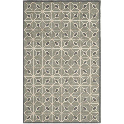 Dark Grey / Charcoal Geometric Rug by Isaac Mizrahi
