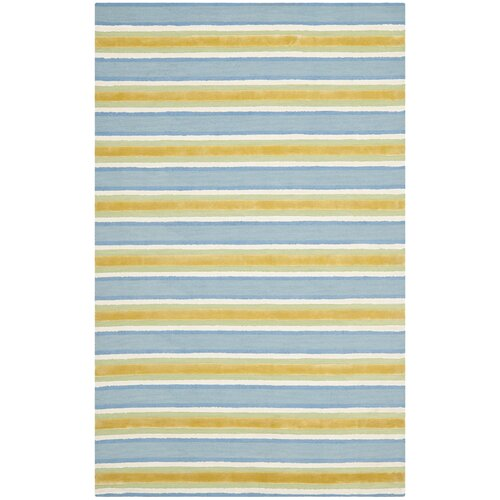 Blue/Beige Area Rug : Wayfair