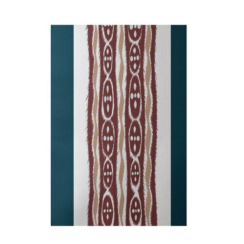 Stripe Rust Indoor/Outdoor Area Rug