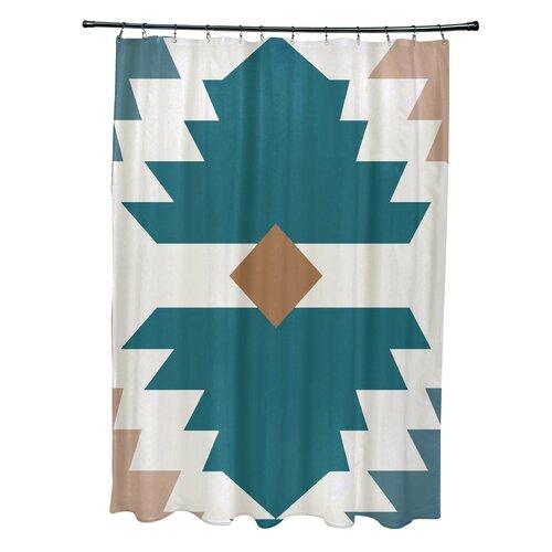 Mesa Geometric Print Shower Curtain by e by design