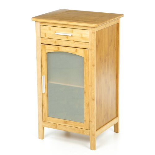 Bay isle home angelfish 1 drawer linen floor cabinet for Bamboo kitchen cabinets reviews