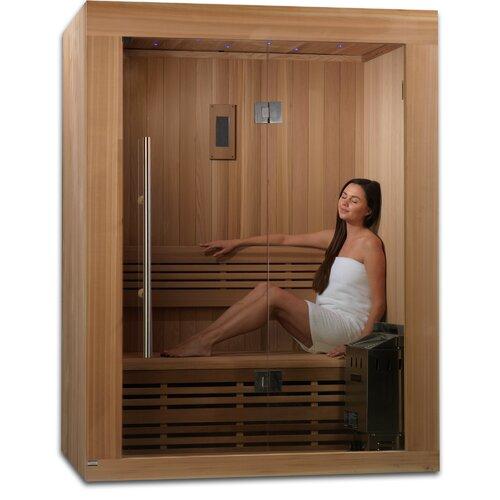 2 3 person ceramic far infrared sauna wayfair. Black Bedroom Furniture Sets. Home Design Ideas