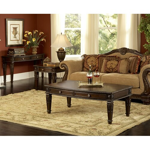 Woodhaven hill palace coffee table reviews wayfair - Woodbridge home designs avalon coffee table ...
