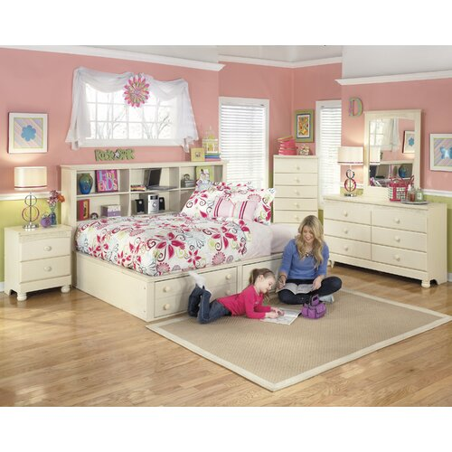 Cottage retreat twin full bookcase headboard wayfair for Cottage retreat ii