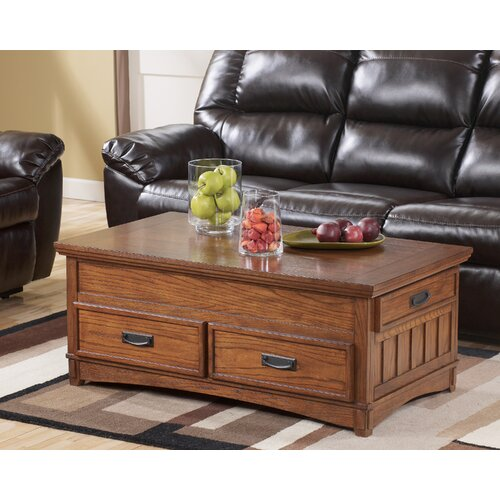 Storage Coffee Table Ashley: Signature Design By Ashley Castle Hill Trunk Coffee Table