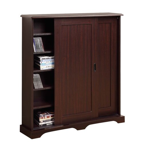 sliding door media cabinet 4d concepts entertainment sliding door multimedia cabinet 26228