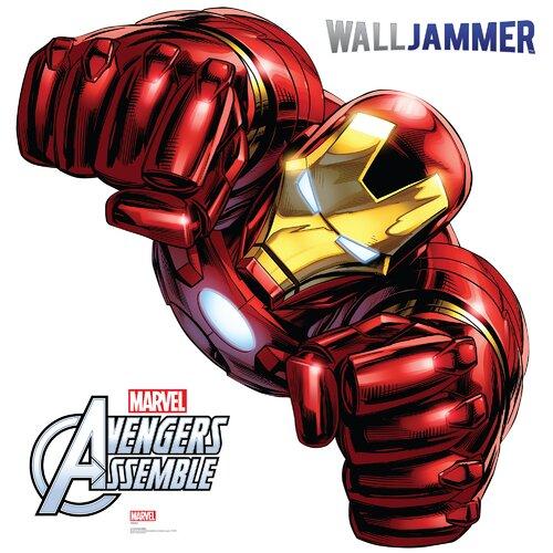 avengers assemble iron man wall decal wayfair iron man wall sticker super hero wall decals nursery wall art