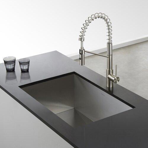 ... Handmade Undermount Single Bowl Stainless Steel Kitchen Sink by Kraus