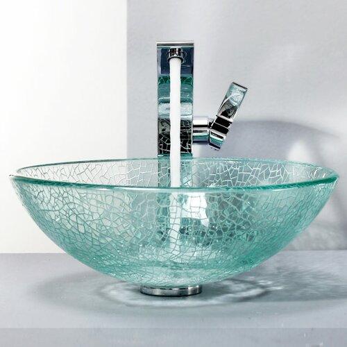 Bathroom Combos Broken Glass Vessel Bathroom Sink With