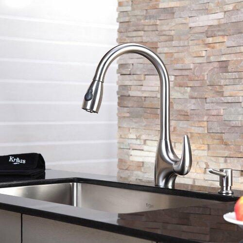 Kraus Kitchen Faucet With Soap Dispenser U0026 Pullout Spray U0026 Reviews